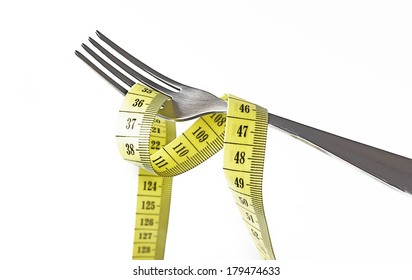 Fork with measuring tape wrapped around