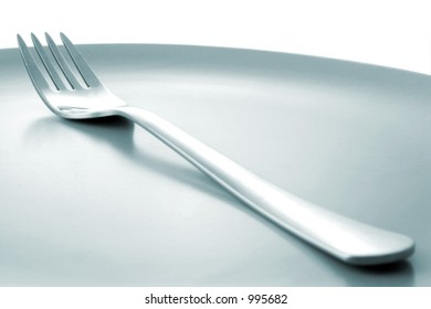 Fork on plate with WB