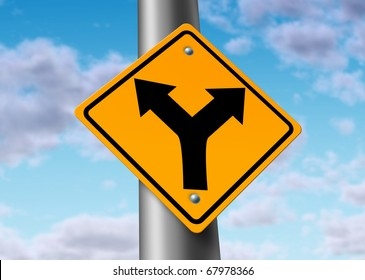 fork in the road confused decision time direction difficult choices street sign