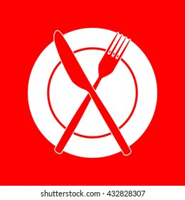 Fork, tape and Knife sign