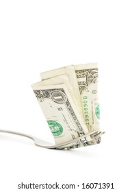 forkful of dollar bills - inflation and the cost of food