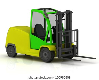 Forklift for airport isolated on white