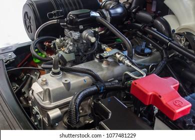 The forklift engine