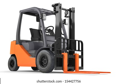 Forklift isolated