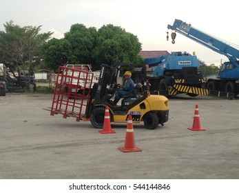 Forklift traning: thailand,rayong,22/11/16