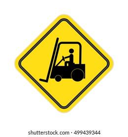 Forklift truck Sign.