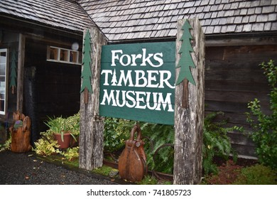 Forks, WA. U.S.A. October 18, 2017. Forks Timber Museum.  History of the local logging industry.
