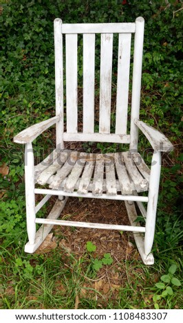 Forlorn Rocking Chair Abandoned Woods Stock Photo Edit Now