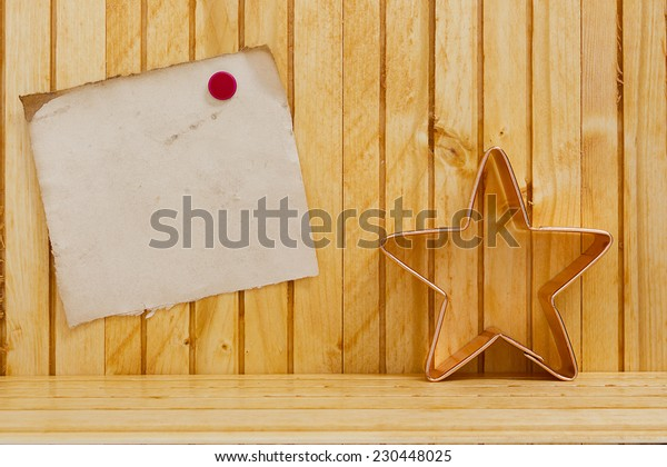 Form for cutting dough in the form of a Christmas star.