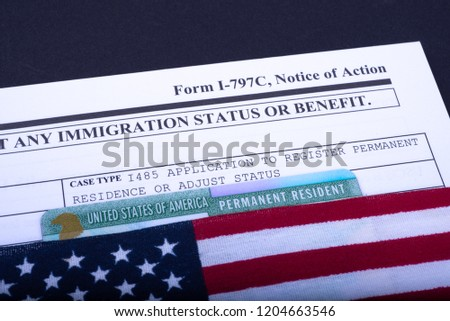 form i 797 c notice action case stock photo (edit now) 1204663546