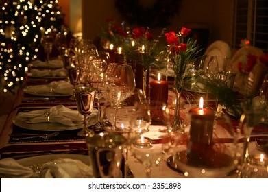 Formal Christmas Dinner