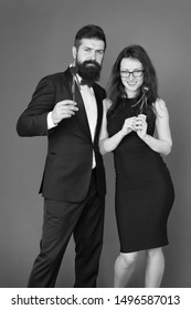 formal couple. business meeting. tuxedo man and formal woman at formal party. sexy couple in love. valentines day heart. bearded businessman with formal lady. love date and romance. business couple.