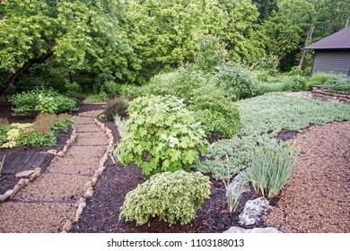 Formal landscape garden paths