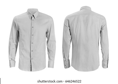 Formal shirt with button down collar isolated on white