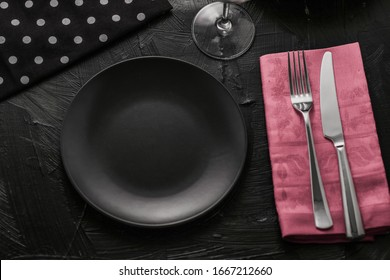 Formal table decor setting for holiday dinner, luxury tableware concept