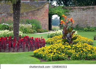 Formal Walled Garden in an Old English Manor House