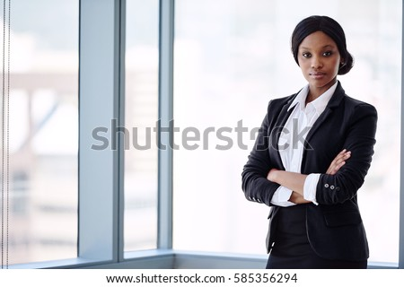 Formally Dressed African Business Woman Looking Stock Photo Edit