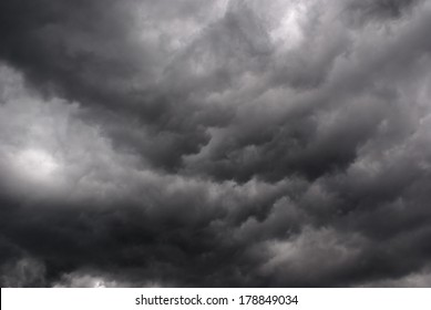 The formation of dark storm clouds