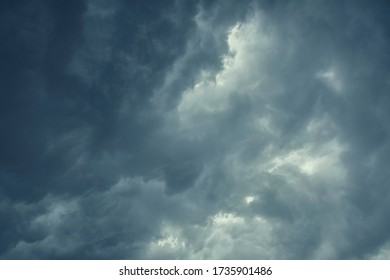 Formation of dark storm clouds on Kolkata sky, the day before super cyclonic storm 'Amphan' scheduled to hit Indian coastal states West Bengal & Odisha. Shot on Kolkata on 05/19/2020.