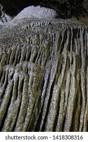 Formation of stalactites inside the Devil's Cave, Eldorado, São Paulo, Brazil.