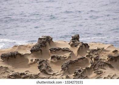 Formations of a coastal rockface