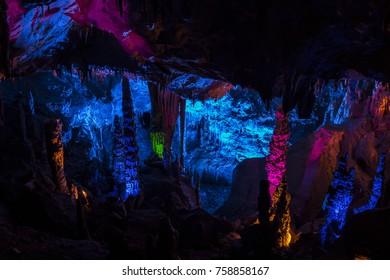 Formations inside the Gokgol Cave, Zonguldak, Turkey   November 5, 2017, Zonguldak, Turkey