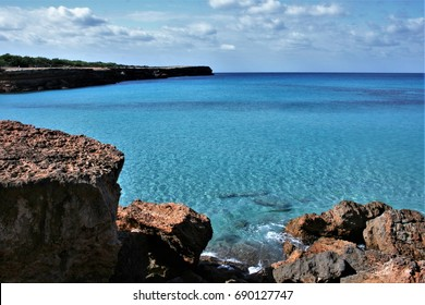 Formentera, Balearic Islands, blue sea,Mediterranean sea, favorite destination of foreign tourists in Spain