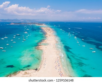 Formentera, drone flying over