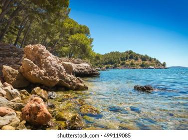 Formentor beach in Palma de Majorca island