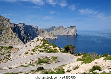 Formentor headland from the cape viewpoint Mallorca
