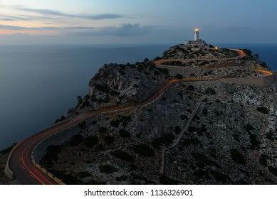 Formentor Lighthouse at dusk, Majorca, Spain