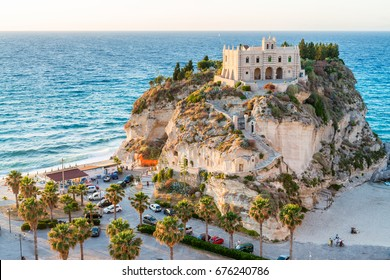 Former 4th century monastery on top of the Sanctuary of Santa Maria Island - Tropea, Calabria, Italy.