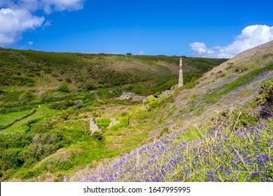 Former Arsenic works at Kenidjack Valley near St Just Cornwall England UK Europe