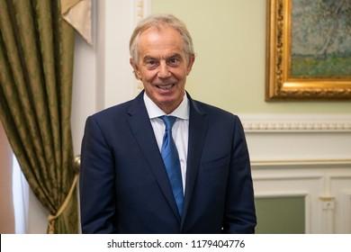 Former British Prime Minister  Tony Blair during a visit to Kyiv, Ukraine. 13-09-2018