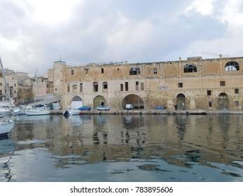 Former British Royal Navy Storehouse On Malta