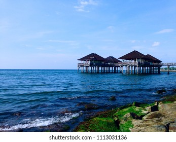 Former Buleleng Harbour Beach Scenery North Bali