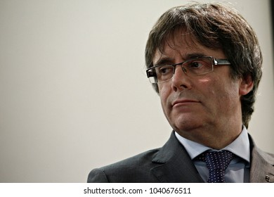 Former Catalonia's leader Carles Puigdemont gives a press conference  in Brussels, Belgium on Dec. 6, 2017.