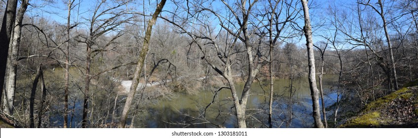 Former channel of the Yalobusha River from the Lost Bluff Trail near Grenada Lake Mississippi