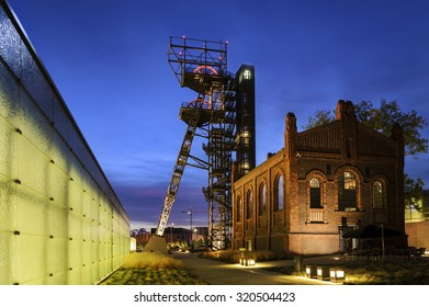 """The former coal mine """"Katowice"""", seat of the Silesian Museum. The complex combines old mining buildings and infrastructure with modern architecture. Katowice. Poland."""