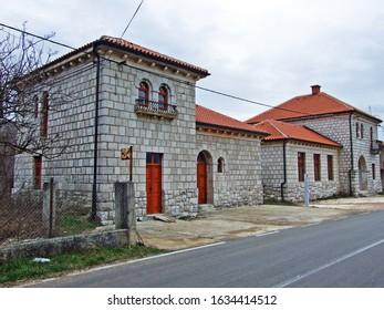 Former elementary school and antimalarial station, Otavice - Croatia (Nekadasnja osnovna skola i antimalaricna stanica, Otavice - Hrvatska) - Shutterstock ID 1634414512