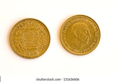 Former European currency of Spain
