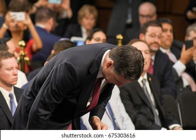 Former FBI Director James Comey testifies in front of the Senate Intelligence Committee during hearing in the Hart Senate Office building June 8, 2017, in Washington DC.