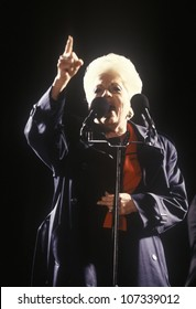 Former Governor Ann Richards at a Texas campaign rally in 1992 on Clinton/Gores final day of campaigning, McAllen, Texas