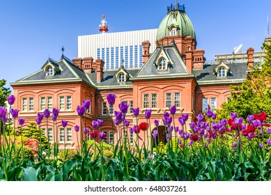 Former Hokkaido Government Office Building during spring season in Sapporo, Japan