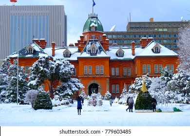 Former Hokkaido Government Office in the winter