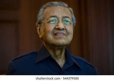 Former Malaysian Prime Minister Tun Dr Mahathir Mohamad during interview with reporter in Kuala Lumpur Malaysia on March 18, 2016.