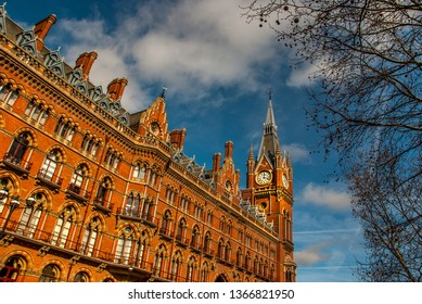 The former Midland Grand Hotel in Kings Cross, London. The building now houses the luxury St. Pancras Renaissance London Hotel.
