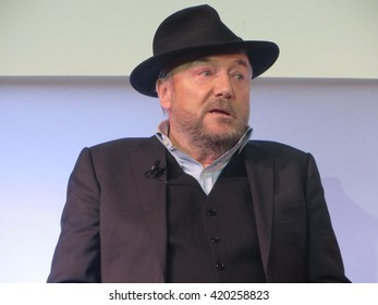 Former MP and Respect party politician George Galloway speaking to the Evening Standard's hustings for Mayor of London on 3rd February 2016