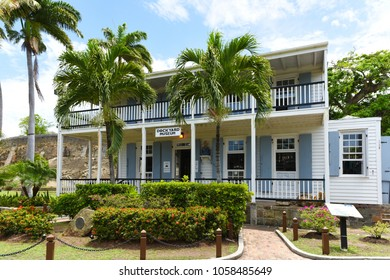Former Naval Officer's House, now the Dockyard Museum.  Nelson's Dockyard, English Harbour.  Antigua. 11 May 2017