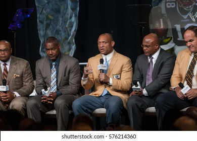 Former NFL player Panel speaks at the Bart Starr Awards, 2017 AIA Super Bowl Breakfast on Saturday 4, 2017 at the Marriott Marquis Houston, Texas - USA